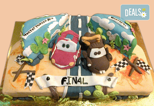 Смърфове, Миньони & Brawl stars! Голяма детска 3D торта 37 ПАРЧЕТА с фигурална ръчно изработена декорация от Сладкарница Джорджо Джани - Снимка 12