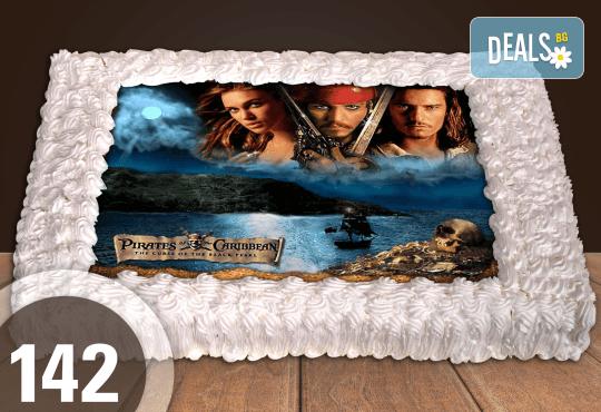 Голяма детска торта 20, 25 или 30 парчета със снимка на любим герой от Сладкарница Джорджо Джани - Снимка 38