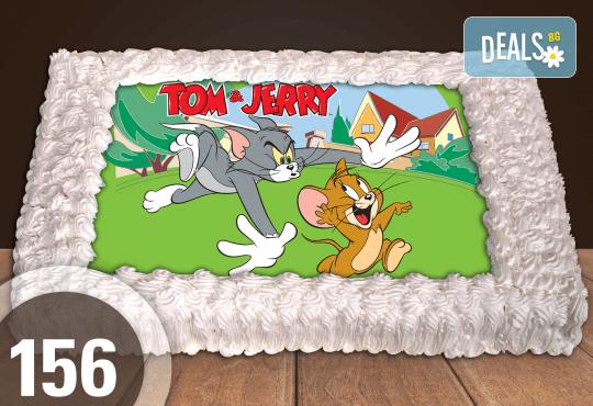 Голяма детска торта 20, 25 или 30 парчета със снимка на любим герой от Сладкарница Джорджо Джани - Снимка 49