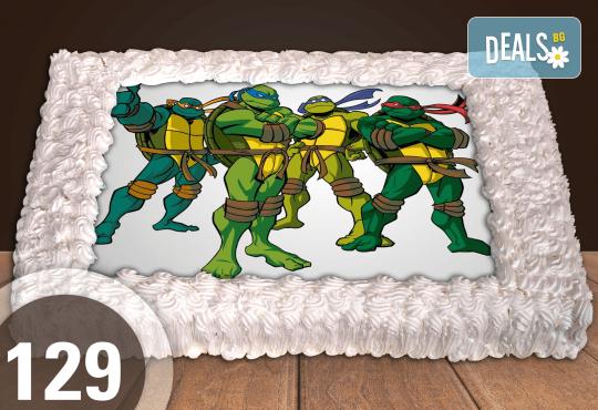 Голяма детска торта 20, 25 или 30 парчета със снимка на любим герой от Сладкарница Джорджо Джани - Снимка 23