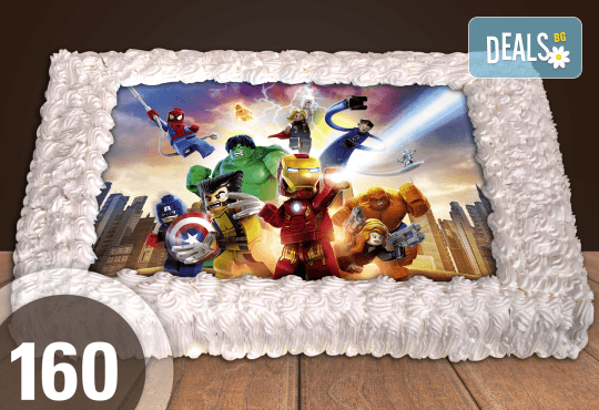 Голяма детска торта 20, 25 или 30 парчета със снимка на любим герой от Сладкарница Джорджо Джани - Снимка 54