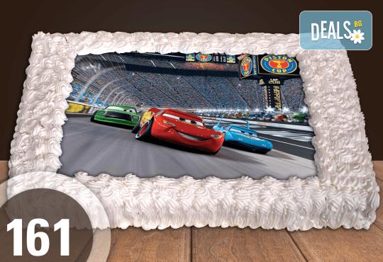 Голяма детска торта 20, 25 или 30 парчета със снимка на любим герой от Сладкарница Джорджо Джани - Снимка 55