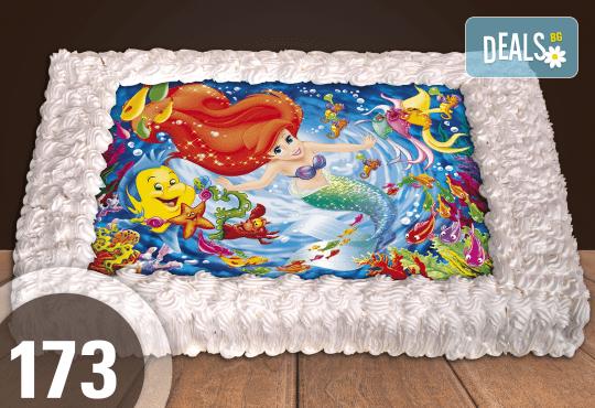 Голяма детска торта 20, 25 или 30 парчета със снимка на любим герой от Сладкарница Джорджо Джани - Снимка 64