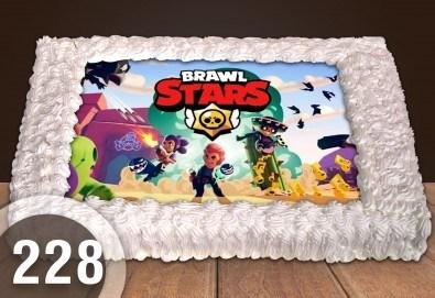 Голяма детска торта 20, 25 или 30 парчета със снимка на любим герой от Сладкарница Джорджо Джани - Снимка