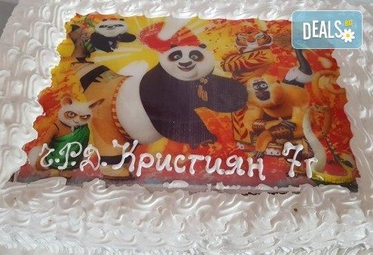 Голяма детска торта 20, 25 или 30 парчета със снимка на любим герой от Сладкарница Джорджо Джани - Снимка 114