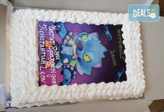 Голяма детска торта 20, 25 или 30 парчета със снимка на любим герой от Сладкарница Джорджо Джани - Снимка 115
