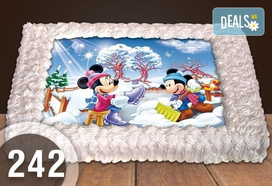 Голяма детска торта 20, 25 или 30 парчета със снимка на любим герой от Сладкарница Джорджо Джани - Снимка 126