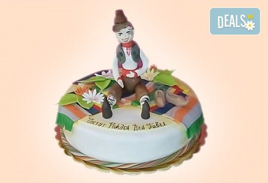 Голяма 3D Торта на традициите за почитателите на българския фолклор, 25 парчета от Сладкарница Джорджо Джани - Снимка 1