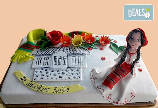 Голяма 3D Торта на традициите за почитателите на българския фолклор, 25 парчета от Сладкарница Джорджо Джани - Снимка 12