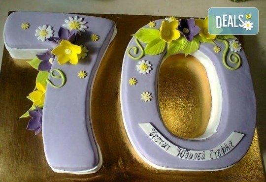 С цифри! Изкушаващо вкусна бутикова АРТ торта с цифри и размер по избор от Сладкарница Джорджо Джани - Снимка 17