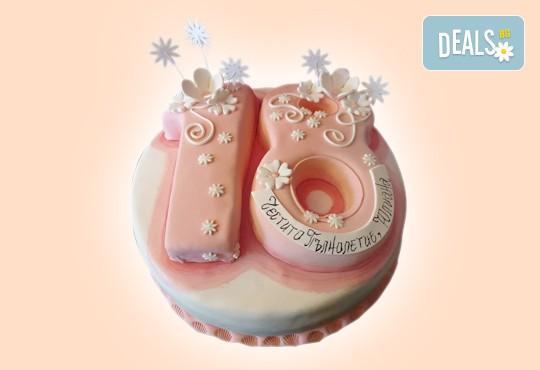 С цифри! Изкушаващо вкусна бутикова АРТ торта с цифри и размер по избор от Сладкарница Джорджо Джани - Снимка 19