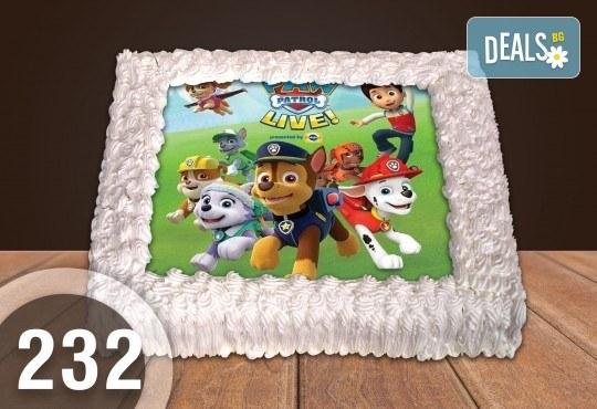 За най-малките! Голяма торта със снимка 20, 25 или 30 парчета за празника на Вашето дете с герой от филмче от Сладкарница Джорджо Джани - Снимка 3