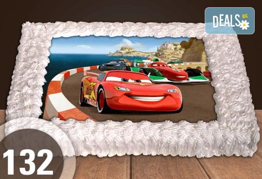 За най-малките! Голяма торта със снимка 20, 25 или 30 парчета за празника на Вашето дете с герой от филмче от Сладкарница Джорджо Джани - Снимка 24