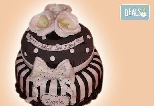 Торта с цветя! Празнична 3D торта с пъстри цветя, дизайн на Сладкарница Джорджо Джани - Снимка 25