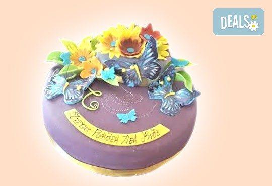 Торта с цветя! Празнична 3D торта с пъстри цветя, дизайн на Сладкарница Джорджо Джани - Снимка 26