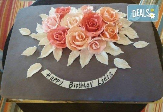 Торта с цветя! Празнична 3D торта с пъстри цветя, дизайн на Сладкарница Джорджо Джани - Снимка 37