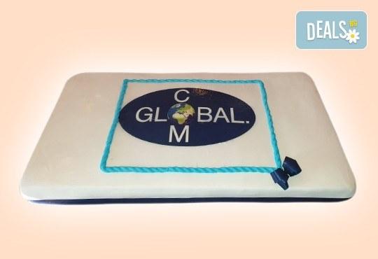 С Вашия бранд! Фирмена торта с лого и индивидуален дизайн от Сладкарница Джорджо Джани - Снимка 8