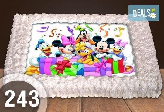 Експресна торта от днес за днес! Голяма детска торта 20, 25 или 30 парчета със снимка на любим герой от Сладкарница Джорджо Джани - Снимка 121