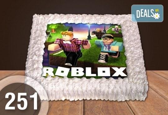 Експресна торта от днес за днес! Голяма детска торта 20, 25 или 30 парчета със снимка на любим герой от Сладкарница Джорджо Джани - Снимка 2