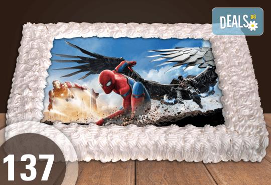Експресна торта от днес за днес! Голяма детска торта 20, 25 или 30 парчета със снимка на любим герой от Сладкарница Джорджо Джани - Снимка 41