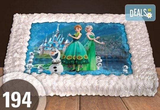 Експресна торта от днес за днес! Голяма детска торта 20, 25 или 30 парчета със снимка на любим герой от Сладкарница Джорджо Джани - Снимка 93