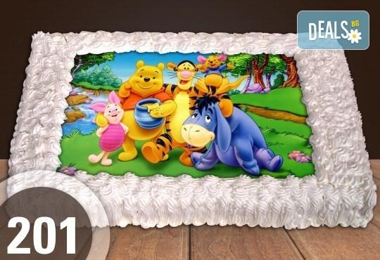 Експресна торта от днес за днес! Голяма детска торта 20, 25 или 30 парчета със снимка на любим герой от Сладкарница Джорджо Джани - Снимка 100