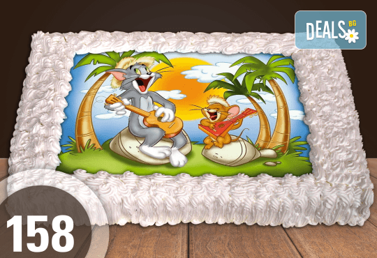 Експресна торта от днес за днес! Голяма детска торта 20, 25 или 30 парчета със снимка на любим герой от Сладкарница Джорджо Джани - Снимка 59
