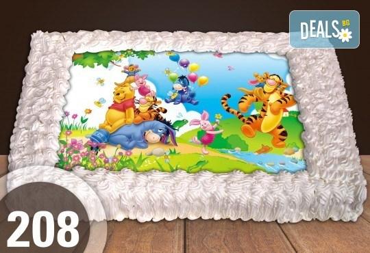 Експресна торта от днес за днес! Голяма детска торта 20, 25 или 30 парчета със снимка на любим герой от Сладкарница Джорджо Джани - Снимка 106