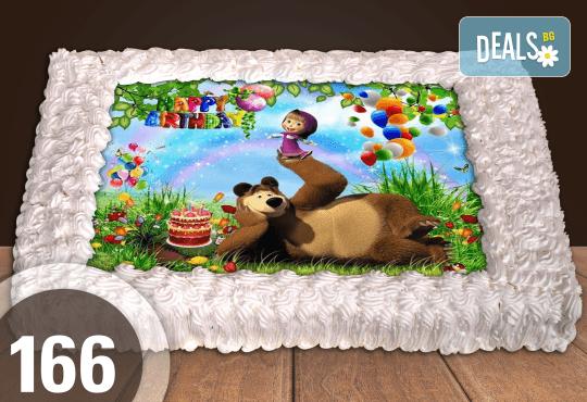 Експресна торта от днес за днес! Голяма детска торта 20, 25 или 30 парчета със снимка на любим герой от Сладкарница Джорджо Джани - Снимка 64