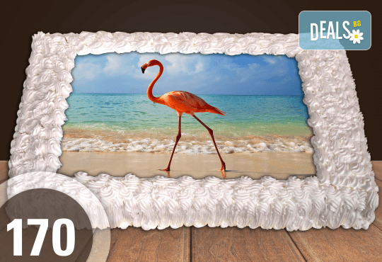 Експресна торта от днес за днес! Голяма детска торта 20, 25 или 30 парчета със снимка на любим герой от Сладкарница Джорджо Джани - Снимка 68