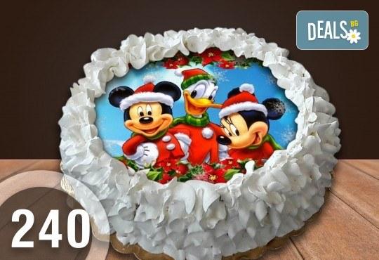 Детска торта с 12 парчета с крем и какаови блатове + детска снимка или снимка на клиента, от Сладкарница Джорджо Джани - Снимка 49