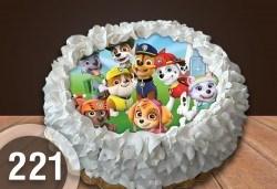 Детска торта с 12 парчета с крем и какаови блатове + детска снимка или снимка на клиента, от Сладкарница Джорджо Джани - Снимка