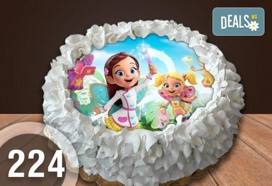 Детска торта с 12 парчета с крем и какаови блатове + детска снимка или снимка на клиента, от Сладкарница Джорджо Джани - Снимка 38