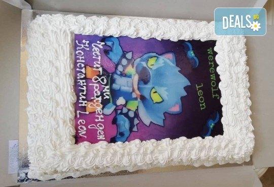 За момче! Торти за момчета: вземете голяма торта 20/ 25/ 30 парчета със снимка на герои от любимите детски филмчета - Нинджаго, Костенурките Нинджа, Спайдърмен и други от Сладкарница Джорджо Джани - Снимка 59