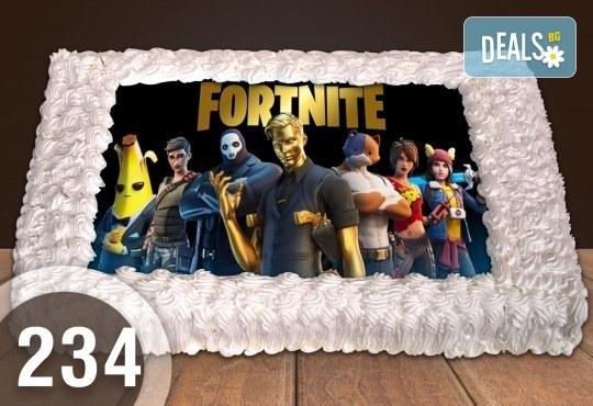 За момче! Торти за момчета: вземете голяма торта 20/ 25/ 30 парчета със снимка на герои от любимите детски филмчета - Нинджаго, Костенурките Нинджа, Спайдърмен и други от Сладкарница Джорджо Джани - Снимка 1
