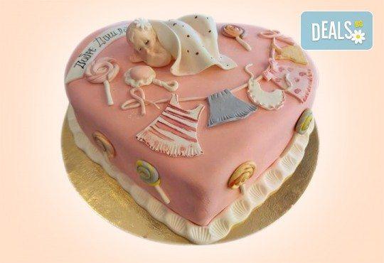 Честито бебе! Торта за изписване от родилния дом, за 1-ви рожден ден или за прощъпулник от Сладкарница Джорджо Джани - Снимка 3
