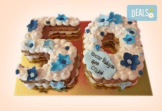 Винтидж торта с 3D цифри и размер по избор от Сладкарница Джорджо Джани - Снимка 2