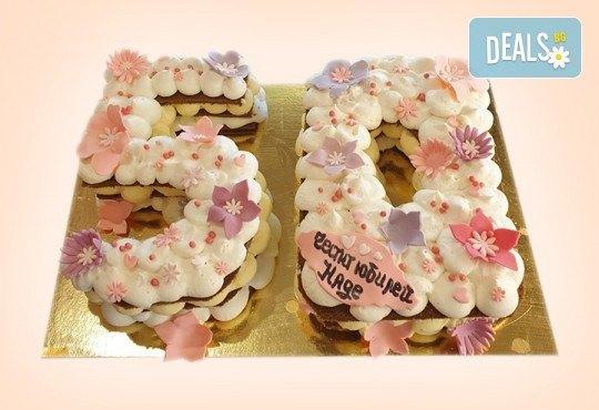 Винтидж торта с 3D цифри и размер по избор от Сладкарница Джорджо Джани - Снимка 1