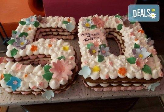 Винтидж торта с 3D цифри от Сладкарница Джорджо Джани