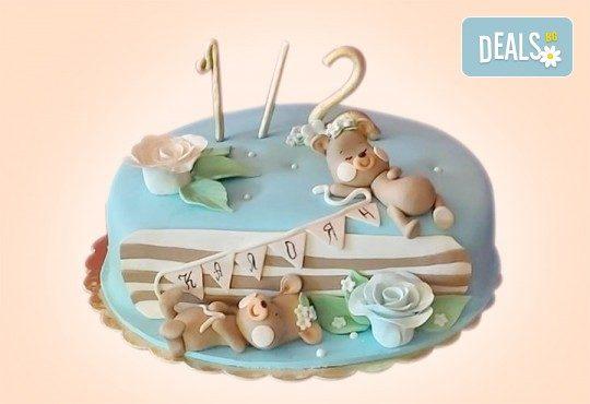 Торта за бебе! Детска фигурална торта 1/2 за бебоци на шест месеца от Сладкарница Джорджо Джани - Снимка 6