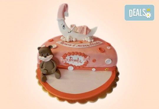 Торта за бебе! Детска фигурална торта 1/2 за бебоци на шест месеца от Сладкарница Джорджо Джани - Снимка 3