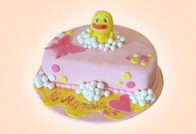 Торта за бебе! Детска фигурална торта 1/2 за бебоци на шест месеца от Сладкарница Джорджо Джани - Снимка