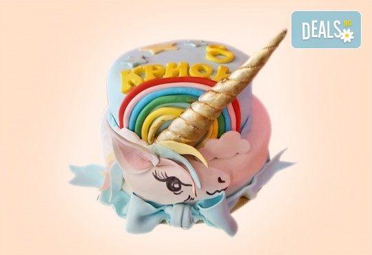 Торта за принцеси! Торти за момичета с 3D дизайн с еднорог или друг приказен герой от сладкарница Джорджо Джани - Снимка 4