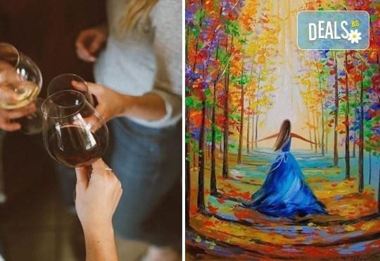 В цветоветe на есента! Рисувайте картината Есенни багри + чаша ароматно вино на 1-ви ноември (неделя) от 17 часа, Багри и вино - Снимка 1