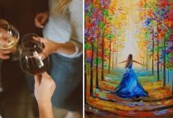 В цветоветe на есента! Рисувайте картината Есенни багри + чаша ароматно вино на 1-ви ноември (неделя) от 17 часа, Багри и вино - Снимка