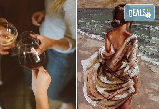 На 15-ти ноември (неделя) рисувайте картината Морски бриз заедно с професионален художник и чаша ароматно вино в Арт ателие Багри и вино - Снимка 1
