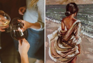 На 15-ти ноември (неделя) рисувайте картината Морски бриз заедно с професионален художник и чаша ароматно вино в Арт ателие Багри и вино - Снимка