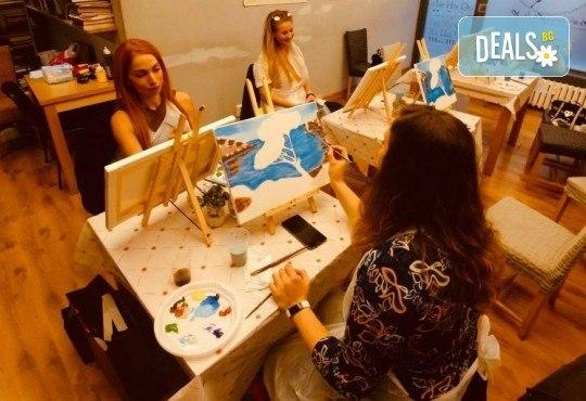 АРТ подарък за празниците! Рисувайте 4 впечатляващи картини или подарете карта за рисуване с напътствията на професионален художник и ароматно вино, Арт ателие Багри и вино - Снимка 2
