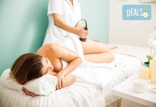 Кавитация, RF лифтинг, вакуум и антицелулитен масаж на две зони в
