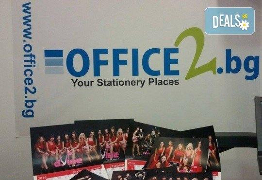 Страхотен подарък! 1 или 3 броя стенен работен календар за 2021 година с Ваша снимка от Офис 2 - Снимка 4